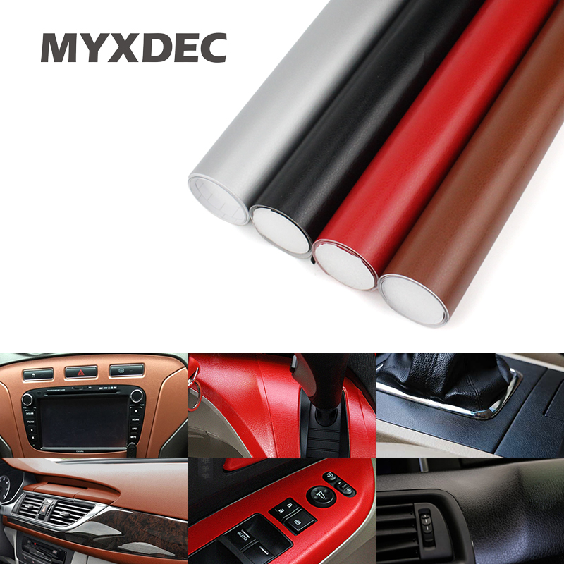 152*30cm Imitation Leather Pattern PVC Adhesive Vinyl Film Stickers For Outlet Auto Car Body Internal Door Interior Decoration