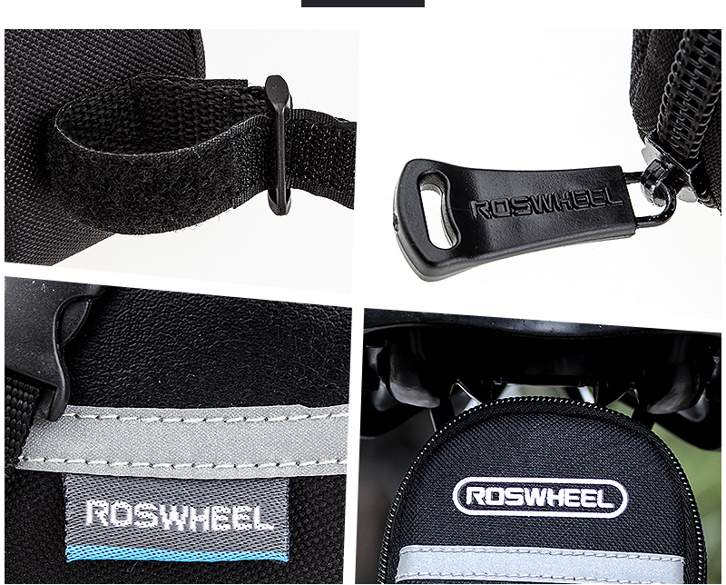 ROSWHEEL 1.2L Portable Waterproof Bike Saddle Bag Cycling Seat Pouch Bicycle Tail bags Rear Pannier Cycling equipment 25