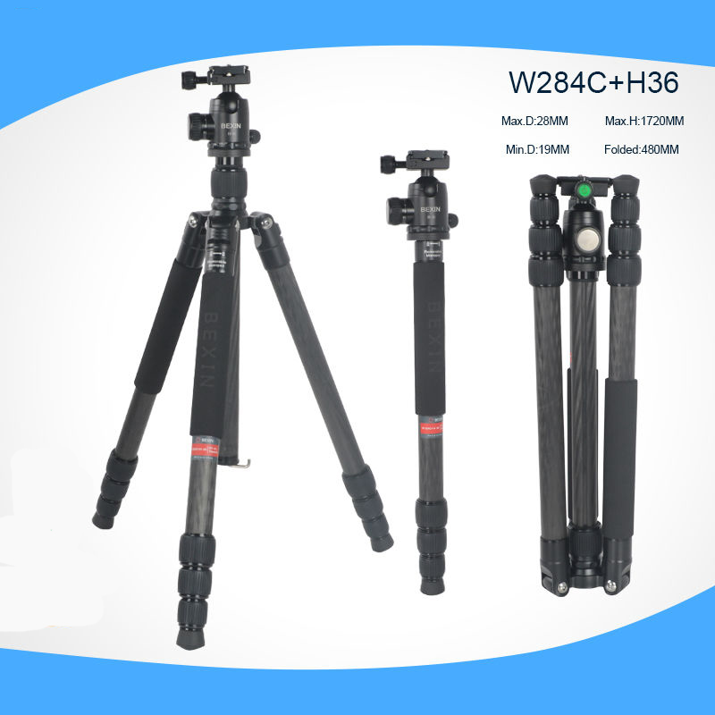 Carbon Fiber Professional Travel Camera Tripod Detachable as Monopod  For Canon Nikon Sony DSLR Camera Portable camera stand