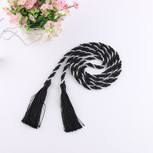 2019 Promotion Tension Rod Colorful Hand Woven Weaving Tassel Tieback Rope Ties Tied Lanyard Simple Diy Hanging For Home Decor(China)