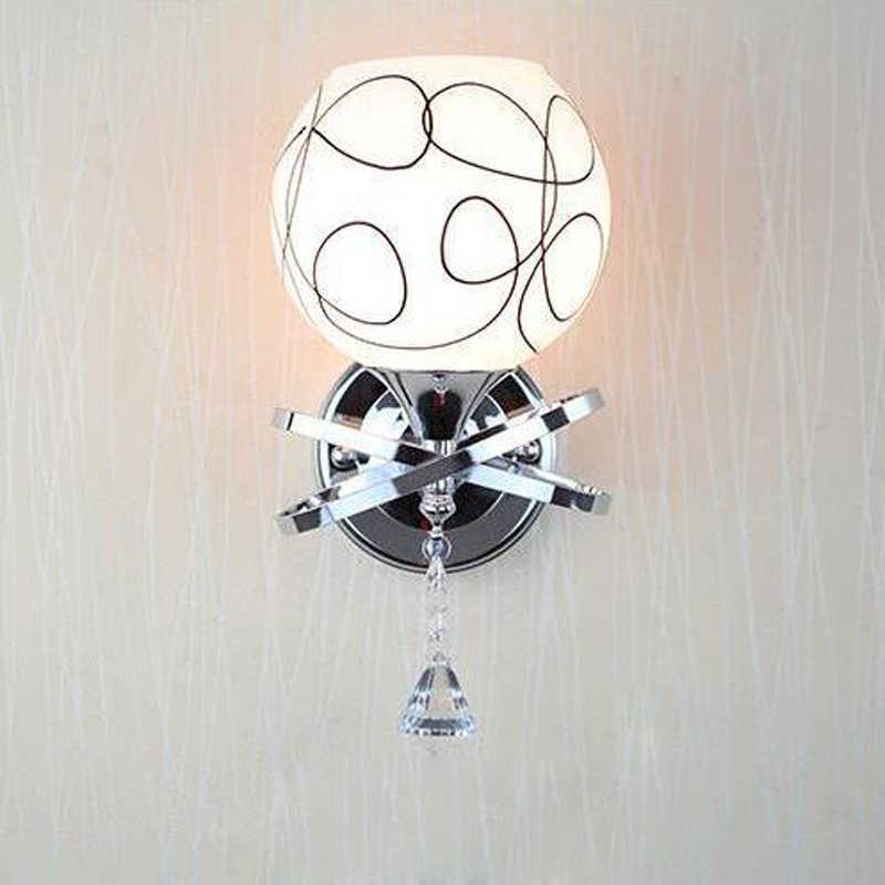Китайский современный креативная Светодиодная лампа простая лампа дневного света с округлыми краями гостиная светодиодный потолочный светильник светодиодный настенный светильник Светодиодная люстра с кристаллами