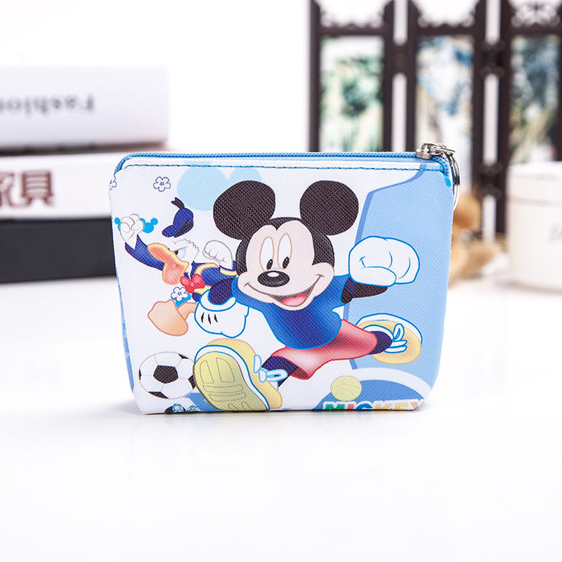2019 New Disney Mickey Mouse Cute Cartoon Coin Bag Children Hand Snack Bag PU Storage Bag Wallet Princess Lsa Anna Sophia Gifts