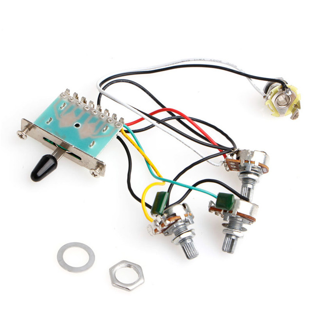 hot sell 1pc guitar 5 way switch 250k pots knobs wiring harness pickup-in  guitar parts & accessories from sports & entertainment on aliexpress com |  alibaba