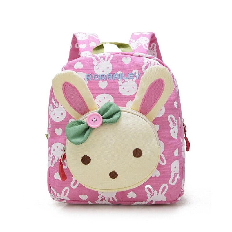 Lovely Cute font b Kids b font School Bags Rabbit Bear Dolls Applique Canvas font b