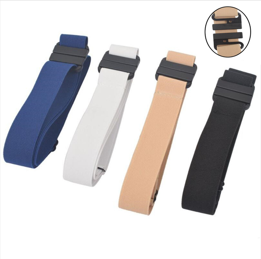 New Unisex Buckle-Free Elastic Belt For Jeans Pants Dress Stretch Waist For Women Men No Buckle Without Buckle Free Belts H111