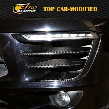For Porsche macan Carbon Fiber Fog Lamp Cover Front Fog Light Cover