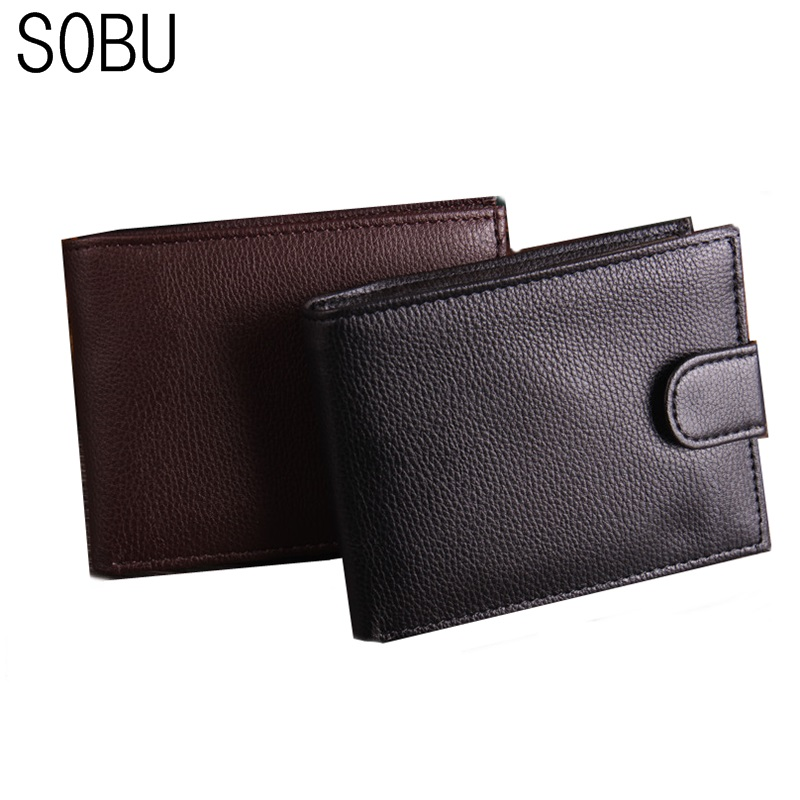 SOBU 100% genuine leather wallet men cowhide top quality real leather men wallets purse multifunction pactical male wallet H043 cowather 100% top cow genuine leather men wallets 2017 men wallet crocodile embossed purse vintage designer male free shipping