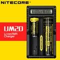 Original Intellicharger Nitecore UM20 USB Digital De Lítio Carregador de Bateria com Tela De LCD para 17500 18650 16340 14500 Bateria