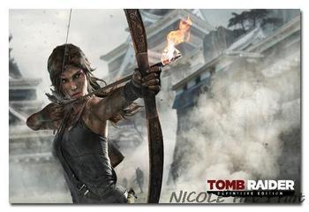 Шелковый Плакат Гобелен Tomb Raider Лара Крофт артпла