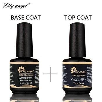 Lily angel 15ml Top Coat+ Base Coat Soak Off UV Lacquer UV Gel Nail Polish Primer Nail Gel Polish for Nail Painting Art цена 2017