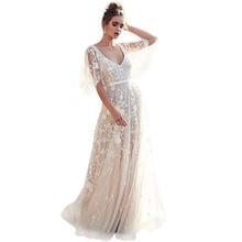 cc11733dc86d 2019 nuevo vestido de mujer europea y americana Comercio exterior vestido nuevo  ebay Amazon explosión sexy encaje con cuello en .