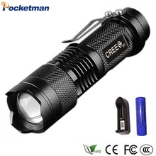 Lights Lighting - Portable Lighting - LED Tactical Flashlight Zoomable Mini LED Torch Portable Penlight Waterproof 3-Mode Lanterna For 14500 Rechargeable Battery