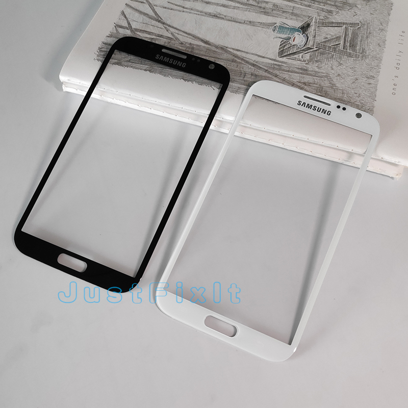 Front Glass lens Parts For Samsung Galaxy Note 2 N7100 GT-N7100 N7105 LCD Display Touch Screen Panel + Stickers + Tools image