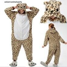 Adult Leopard Bear Pajamas Onesies Animal Pyjamas One piece Cosplay Costume Children Sleepwear Sleepsuit