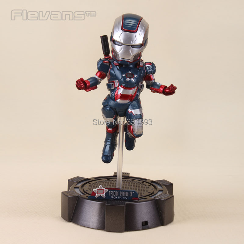 Egg Attack Iron Man 3 Iron Patriot PVC Action Figure Collection Model Toy 8 20CM free shipping marvel egg attack iron man 2 mark 4 action figure collection model toy 8 20cm im018