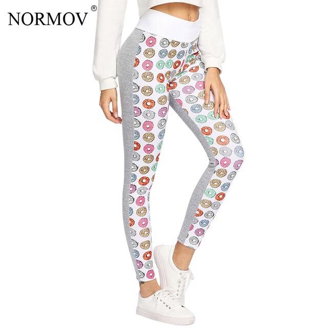 c02d561ac2 NORMOV Women Cute Donut Printed Leggings Fitness Workout leggings Fashion  Sportswear Ptint Leggins Jeggings Pants Women