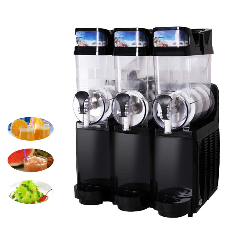 Jamielin 3 Tanks Sand Ice Slushy Making Slush Machines Electric Snow Melting Machine Ice Cream Smoothie Granita Machine