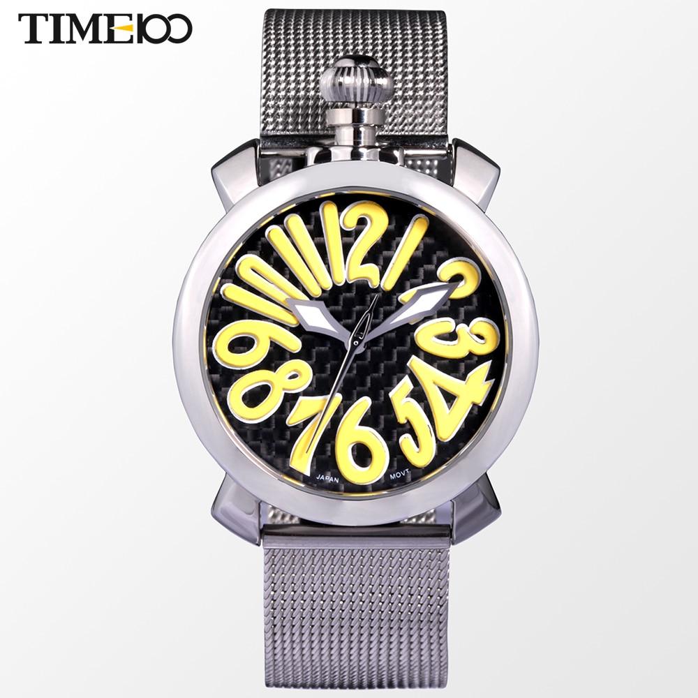 ФОТО Time100 Women's GaGa Watches Cartoon Number Enamel Dial Steel Mesh Strap Ladies'Quartz Dress Wtist Watches For Women reloj mujer