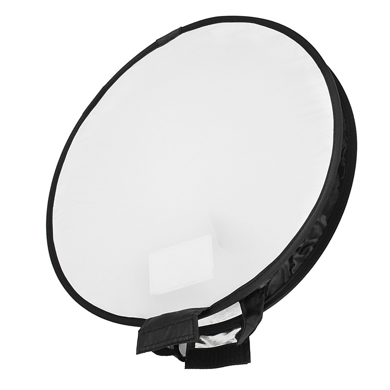 40cm Universal Portable Round Studio Softbox Photography Flash Diffuser Softbox For Nikon For Canon DSLR Camera Black & White