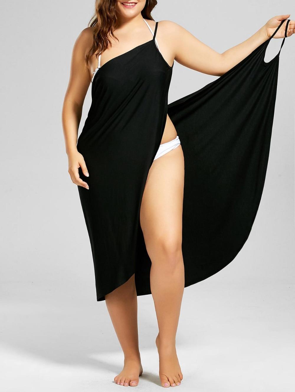 HTB1J5gFaBKw3KVjSZTEq6AuRpXaR Wine Red Sarong Beach Dress 2019 Holiday Beachwear Women Summer Dress Beach Sexy Robe Spaghetti Straps Big Size Wrap Vestido 5XL