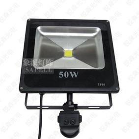 Envío Gratis 2013 nuevo de 50 vatios LED PIR Sensor de movimiento infrarrojo pasivo de la luz de inundación al aire libre SEGURIDAD DE IP65 de alta potencia de iluminación