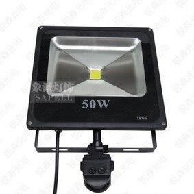 Livraison gratuite 2013 nouveau 50 watts LED PIR passif infrarouge capteur de mouvement lumière d'inondation pour la sécurité extérieure IP65 haute puissance éclairage