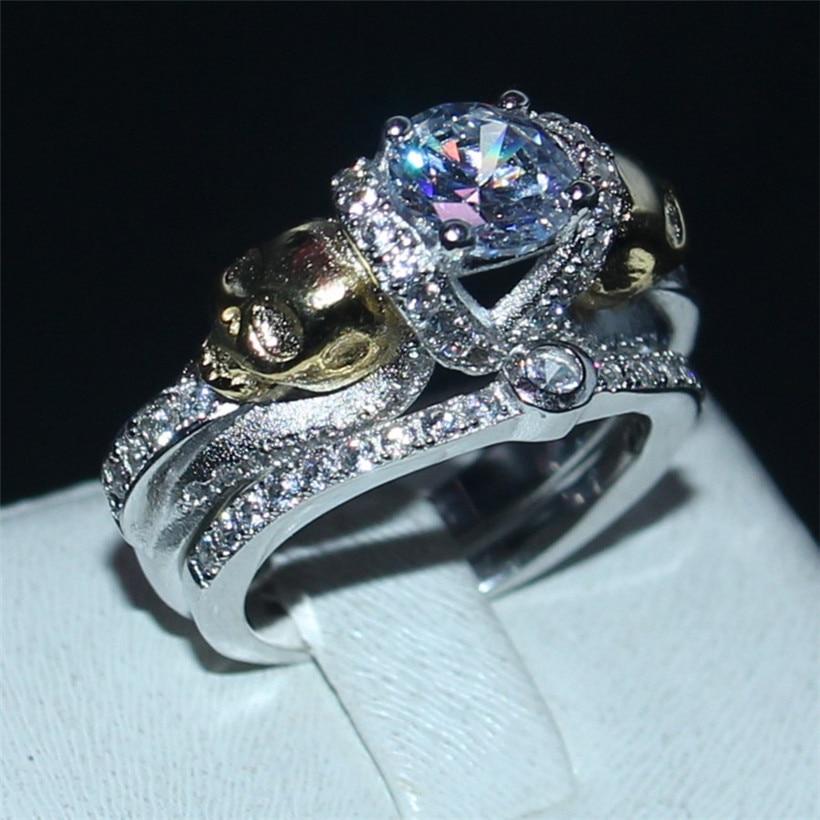 skull wedding ring sets - Skull Wedding Ring