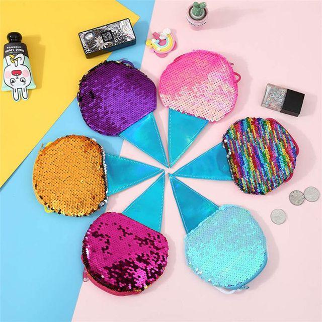 New Sequins Mini Shoulder Bag Kids Children Girls Ice Cream Sequin Ceossbody Purse Gifts Hot