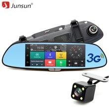 Junsun 3G 7 «voiture DVR Miroir Caméra Android 5.0 wifi GPS Full HD 1080 P Vidéo Enregistreur Double Lentille Greffier vue Arrière dvr Dash cam