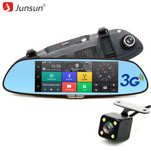 """Junsun 3G 7 """"DVR coche Espejo de La Cámara del Androide 5.0 wifi GPS Full HD 1080 P Video Recorder Registrador de Doble Lente de visión Trasera dvr Dash cam"""