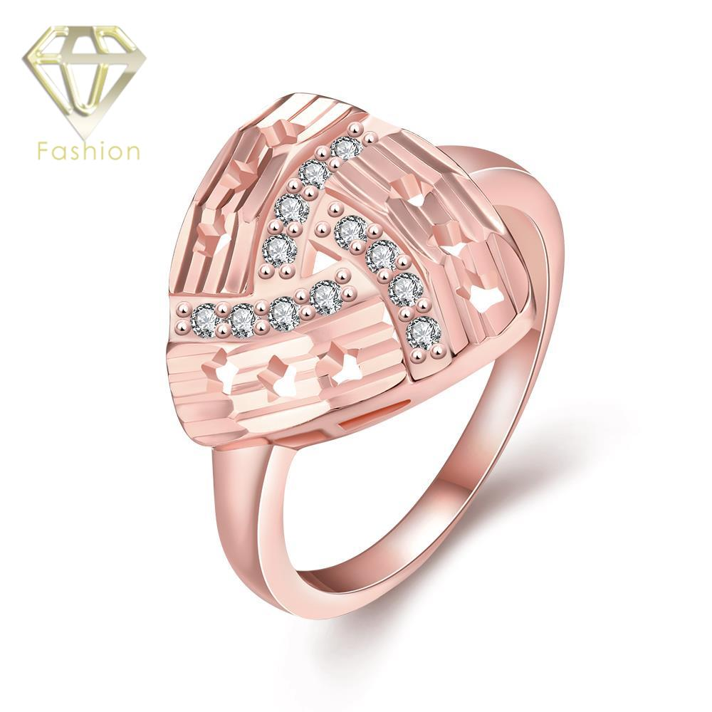 Proposal Rings New Geometric Design Triangle Shaped Inlaid Cubic ...