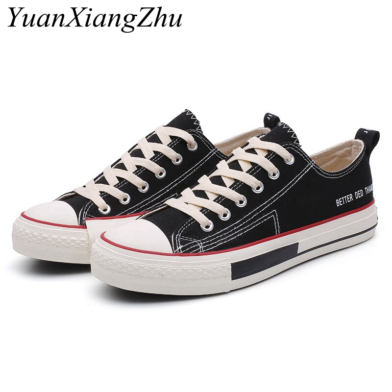 Unisex Canvas Shoes Women Vulcanize Shoes Woman Sneakers 2018 Fashion Students Flats Lace-up Breathable Casual Shoes Size 35-44 pinsen fashion women shoes summer breathable lace up casual shoes big size 35 42 light comfort light weight air mesh women flats