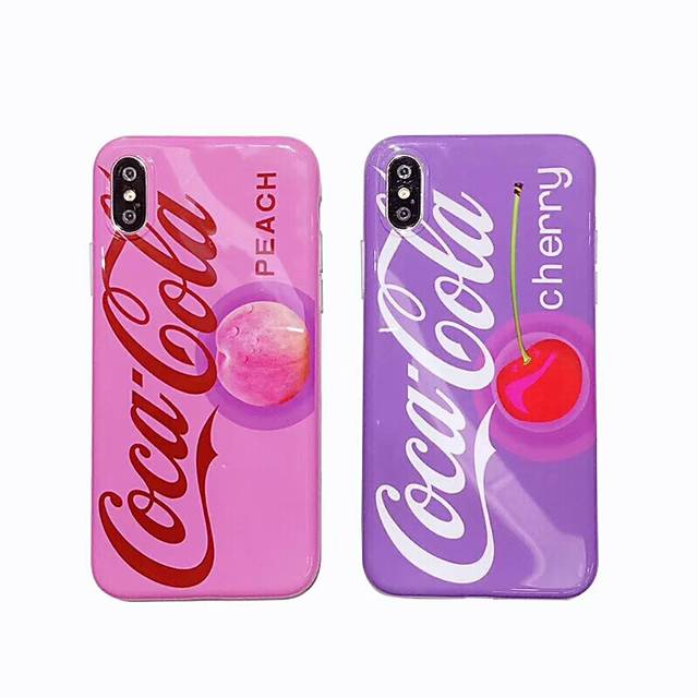 US $2 95 20% OFF Summer Fruit Coke Phone Cover Cases for iPhone 8 7 plus  Smooth Soft imd Silicon shell Case for iPhone 6 6s plus X Pink fundas-in