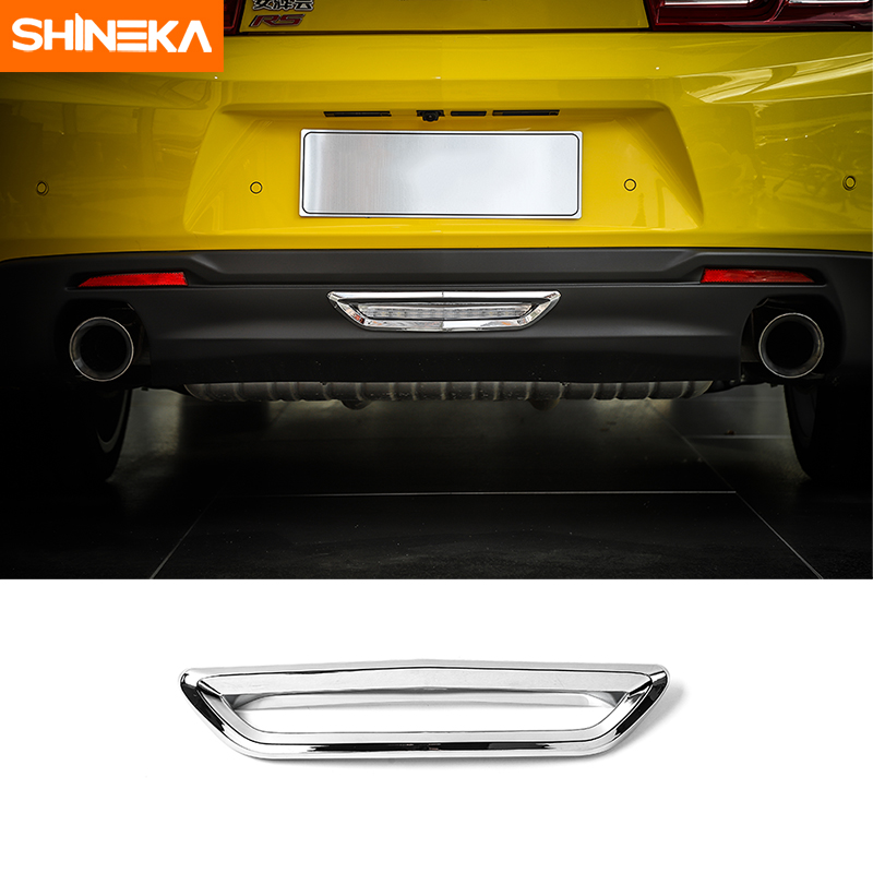 SHINEKA Tail Rear Bumper Pilot Lamp Light Decoration Cover Trim Frame Sticker for 6th Gen European