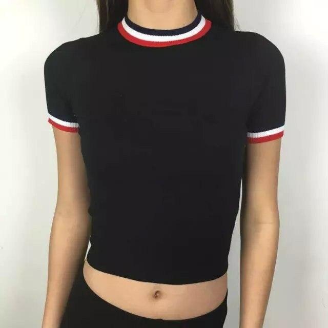 HTB1J5hwLXXXXXXIXFXXq6xXFXXXr - Women Knitted Crop Tops O-neck Short Sleeve Sweaters Sexy Streetwear PTC 245