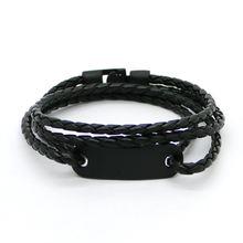 2016 модные ювелирные изделия черный сплав мужской браслет Высокое