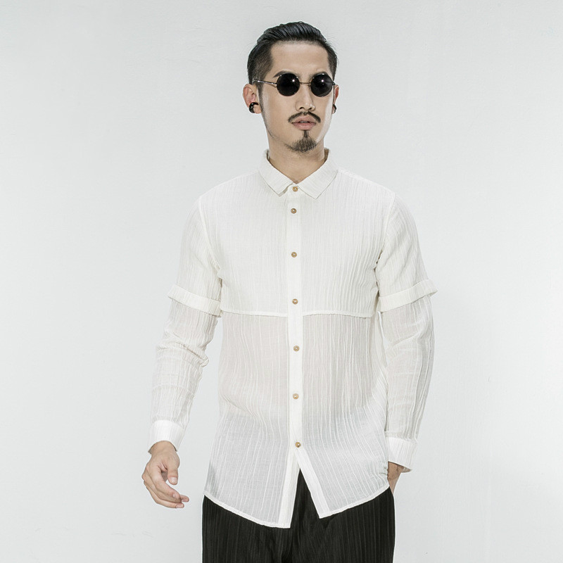 Compare Prices on White Man Summer Linen Shirt Long Sleeve- Online ...