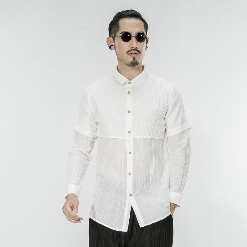 Online Get Cheap White Man Summer Linen Shirt Long Sleeve ...