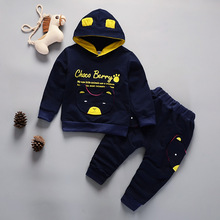 DIIMUU Hot Fashion 2Pcs Toddler Boys Girls Clothes Children Clothing Sports Outfits Hoodies Cotton Tops Long Sleeve Tracksuits