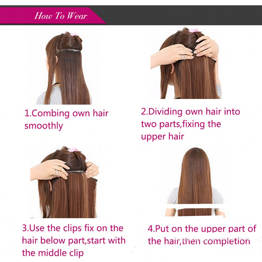 Rockstar Wigs 16colors Long Straight 16 Clips In Synthetic Hair