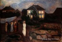 Pinturas copia de la famosa artista La Tormenta de Edvard Munch ilustraciones de Alta Calidad Hecha A Mano