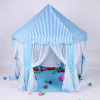 South Korea Six Large Angle Princess Castle Tulle Children Toy House Large Game Room Selling Mosquito