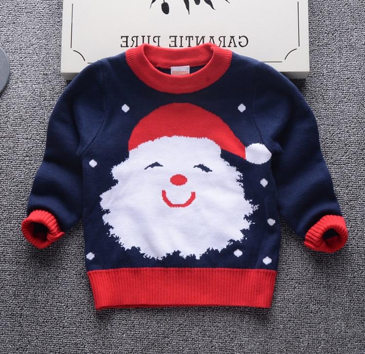 495383e5e Kids Boys Sweaters Girls Sweater Pullover Santa Knitted Long Sleeve ...