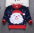 Niños Boys Suéter Niñas Suéter Santa Saltos de Punto de Manga Larga Caliente Del Otoño Niños Ropa de Invierno de Navidad Regalo SY