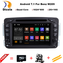Quad Core 2G RAM+16G ROM Android 7.11 Car DVD GPS Navigation Radio For Mercedes Benz C class W203 W209 Viano W639 VITO W638