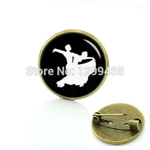Souvenir Da Ballo Sala Da Ballo silhouette spilla valzer di ballo di Arte Immagine pin Antico nazionale simbolico badge C 816
