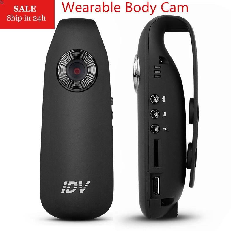 IDV007 Mini Câmera DV Full HD 1080 P Traço Cam Wearable Bicicleta Corpo H.264 Filmadora