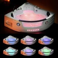 1350mm Whirlpool Bathtub Wall Corner Glass AIR Massage Acrylic Triangular Hydromassage Tub Shower Spa 2 person Hot tub 6148M