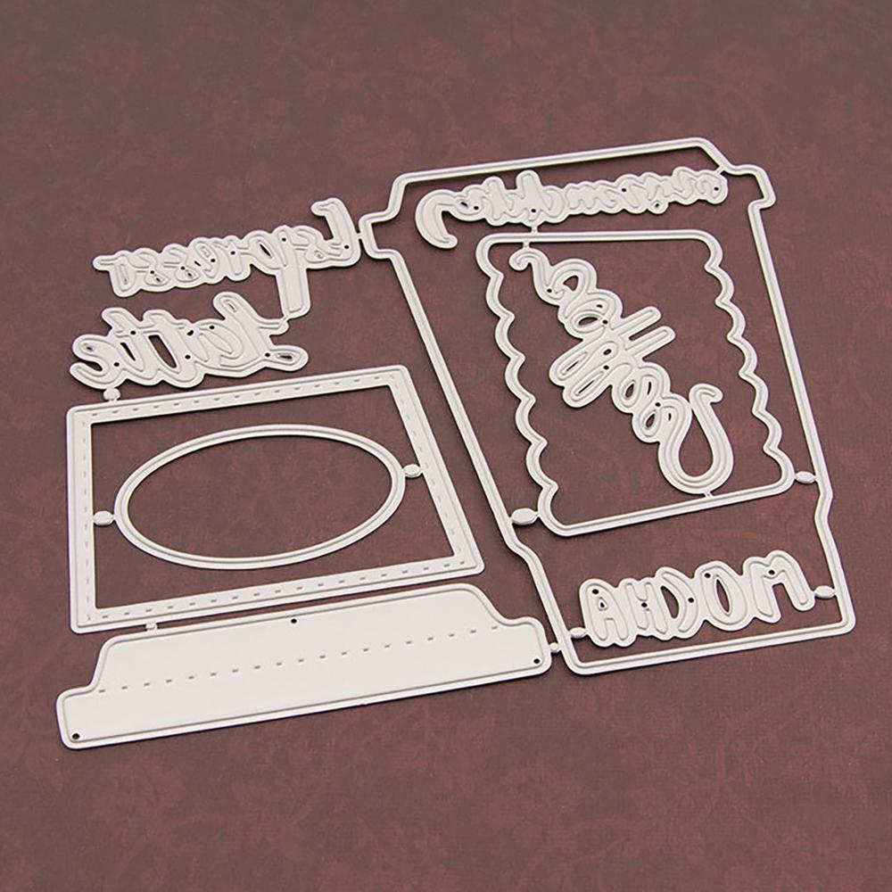Cup Metal Cutting Dies Stenci lMold Scrapbooking Decorative Embossing Craft DIY