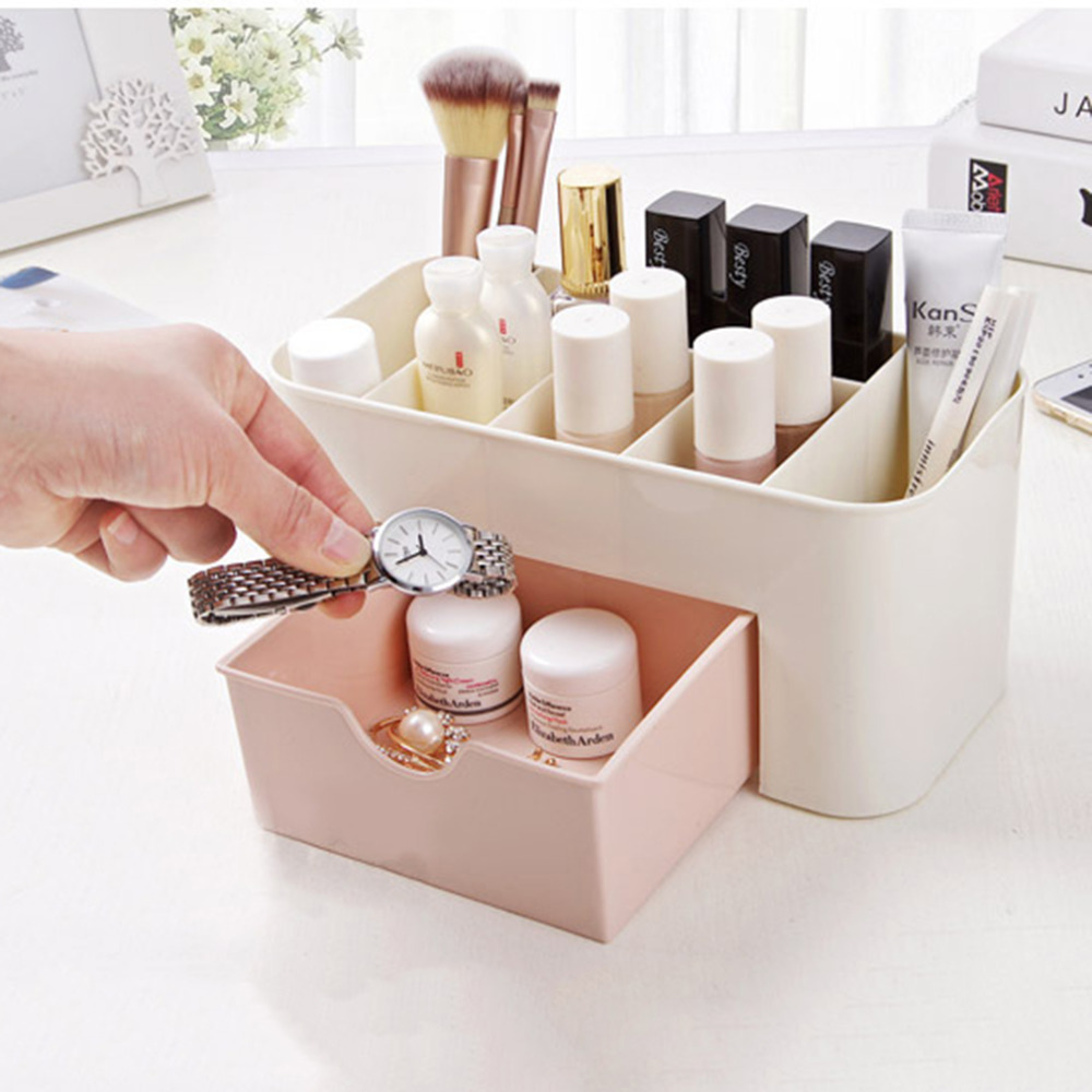 2 Colors Mini Makeup Storage Box Cosmetic case Lipstick Cases Sundries Case Small Objects Box Wholesale Desktop Organizer ...